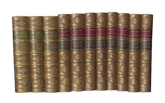 BINDINGS FROUDE (JAMES ANTHONY) The English in Ireland in the Eighteenth Century, 3 vol., 1886; and 8 others