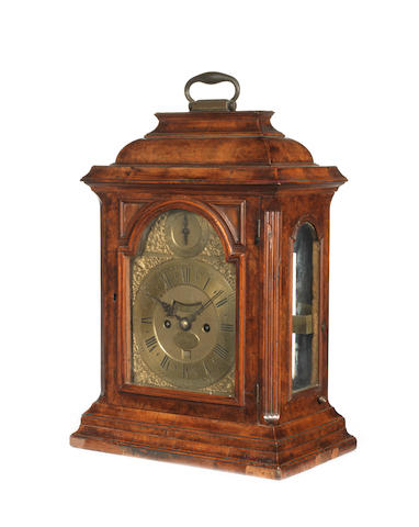 A 'John Ellicott' walnut bracket clock with pull quarter repeat