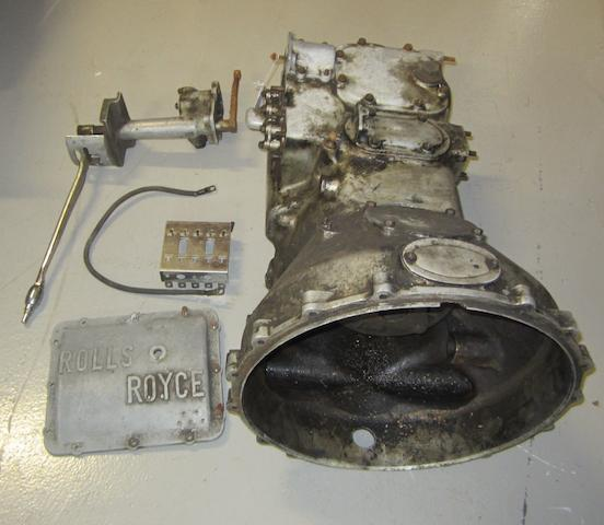 Rolls Royce gearbox, cover, cable & gear shift (5)