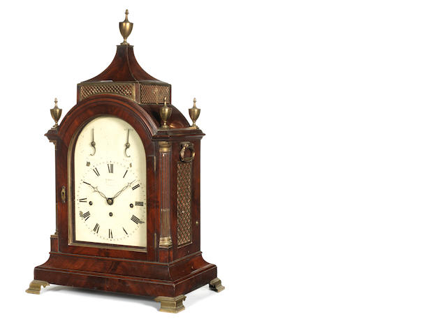 An early 19th century quarter chiming mahogany table clock   Sarjent,Jermyn St, London,