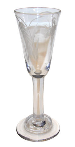 An ale glass, circa 1760