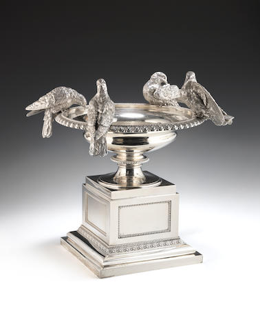 A Victorian silver centrepiece by Hunt & Roskell, London 1874/1875