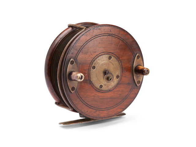 A Farlow 'Sun Nottingham' 4in. star-back reel, c.1890