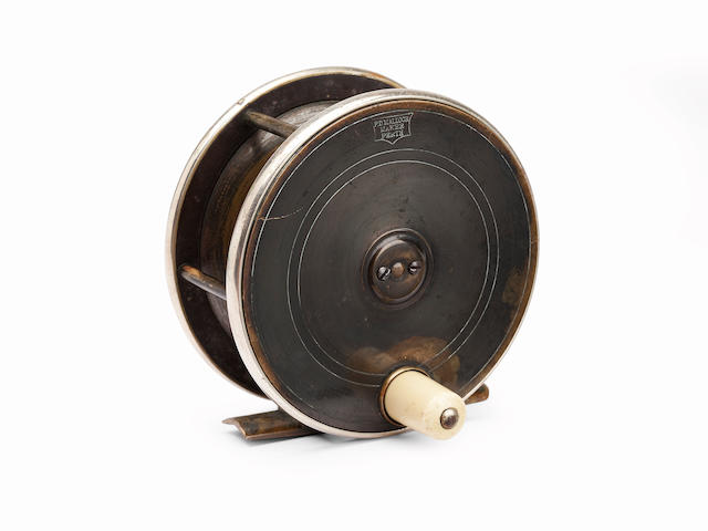 A Malloch Perth style 4¼in. plate wind reel