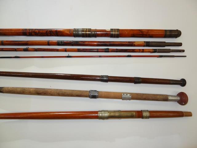 A Hogg, Edinburgh, 20ft 4-pce bamboo and greenheart rod