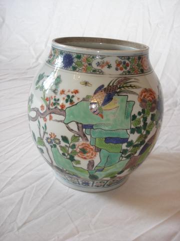 A Samson famille verte vase 19th century