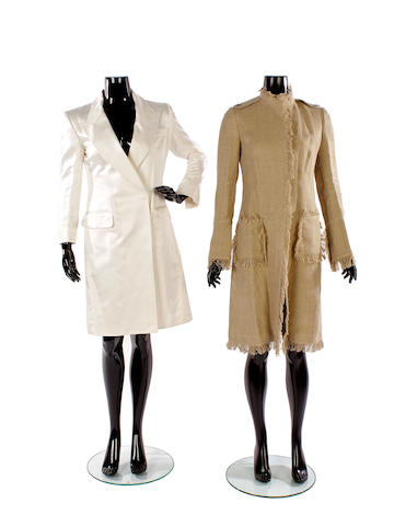 A group of four designer coats