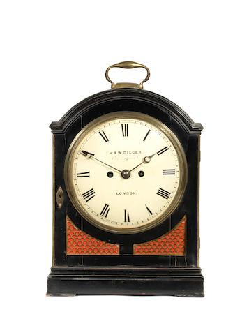 A bracket clock, by Dilcer, London