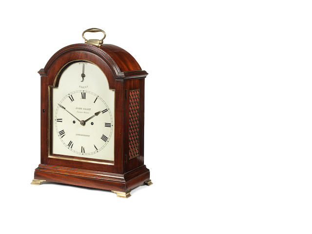 A S/S mantle clock, by J. Sharp, London Bridge