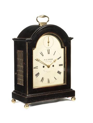 An S/S bracket clock, by P C Dodd, London