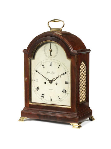 An S/S mantle clock, by J. Jagoe, London