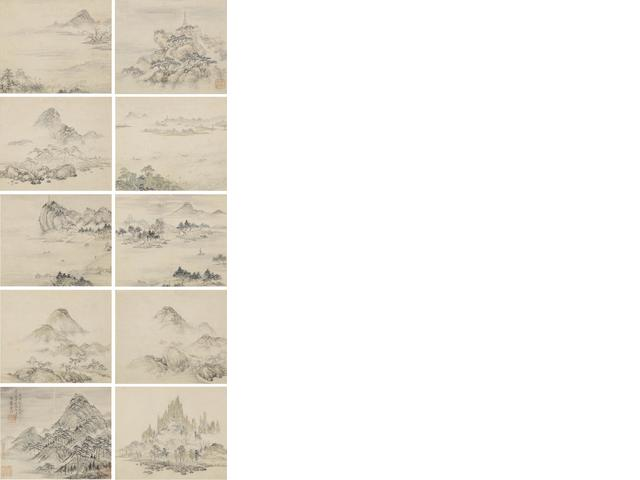 Xiao Yuncong (1596-1673) Landscapes