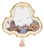 A rare Meissen tray with six cups, circa 1740