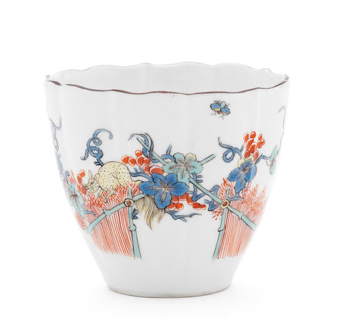 A Meissen beaker, flying fox