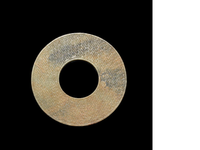 A large jade 'bi' disc Eastern Zhou dynasty