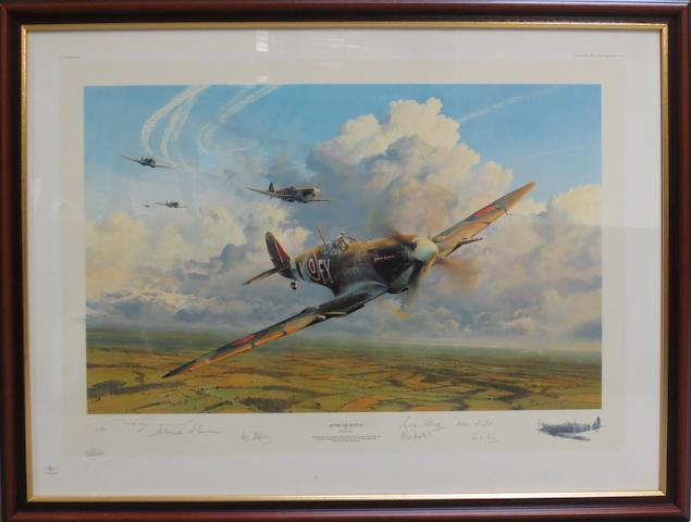 'After the Battle', a signed limited edition print after Robert Taylor,