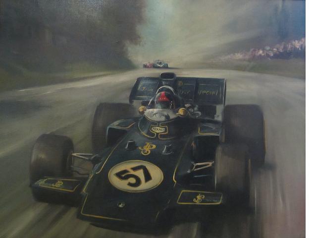 Dion Pears (1929-1985); 'Emerson Fittipaldi JPS Lotus 72',