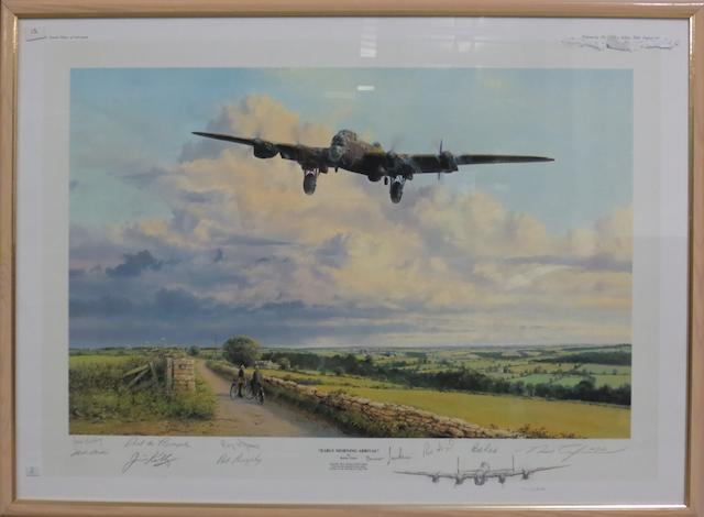 'Early Morning Arrival' signed limited edition print after Robert Taylor,