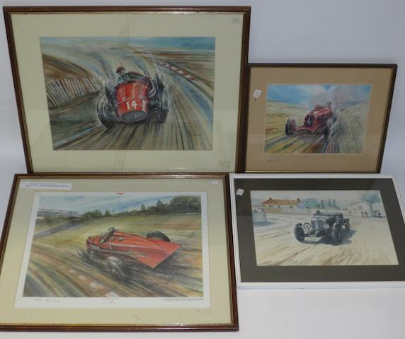Two original artworks by Phil May,