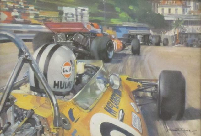 Twenty-seven assorted small motor racing prints and pictures,