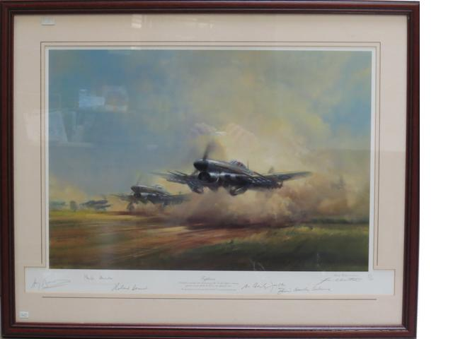 'Typhoon', a signed limited edition print after Frank Wootton,