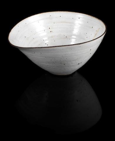 Lucie Rie A Lipped Bowl, circa 1975