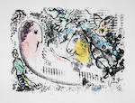 Marc Chagall (Russian/French, 1887-1985) Derrière le Miroir- Nos 147, 182, 225, 235 & 246 Five portfolios, 1964-1981, on Arches and Rives, containing 9 lithographs and lithographic reproductions, text and justification pages, volume 147 signed in blue ink on the title page, each variously numbered from the deluxe edition of 150, published by Maeght Editeur, Paris, loose as issued in original boards and slipcase, each 380 x 280mm (15 x 11in) 5 vol