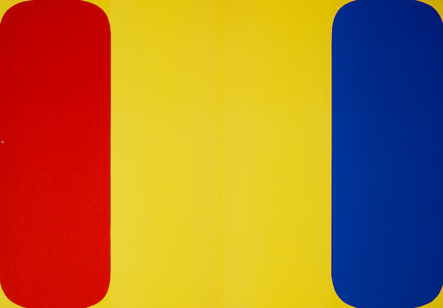 Ellsworth Kelly (American, born 1923) Derrière le Miroir together with steinberg  no224, 1977