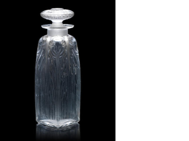 René Lalique  'Quatre Cigales' a Perfume Bottle and Stopper, design 1910