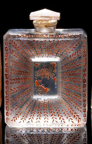 René Lalique for Coty  'Ambre Antique' a Perfume Bottle and Stopper, design 1910