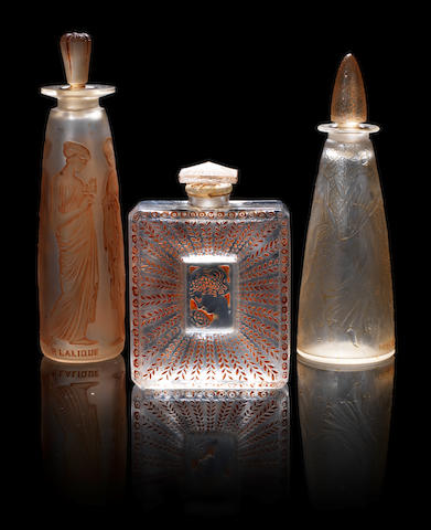 René Lalique for Coty  'Ambre Antique' a Perfume Bottle and Stopper, design 1910