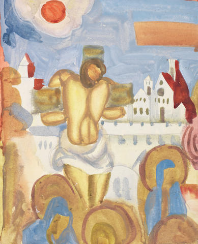 Nikolai Andreevich Tyrsa (Russian, 1887-1942) Crucifixion, 1912 unframed