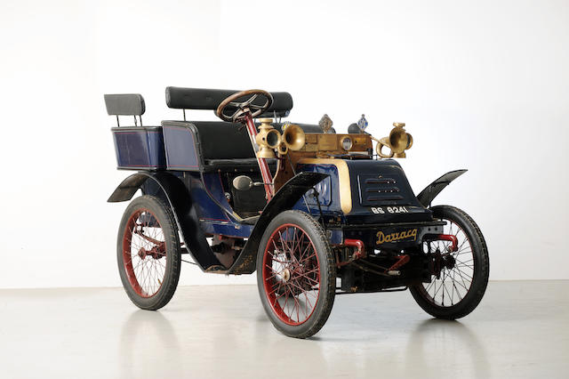 1901 Darracq 6½hp Rear-Entrance Tonneau  Chassis no. 1199 Engine no. 686