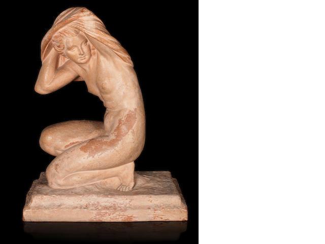 Demetre Chiparus  'Awakening' a Terracotta Study, circa 1925