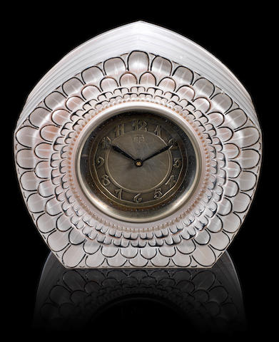 René Lalique 'Dahlia' a Clock, design 1926