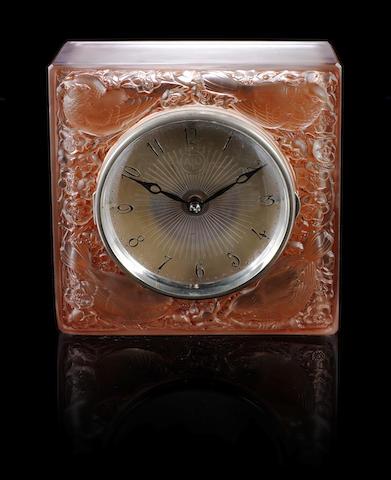 René Lalique 'Quatre Moineaux du Japon' a Clock, design 1928