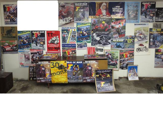 A quantity of Isle of Man TT related posters,