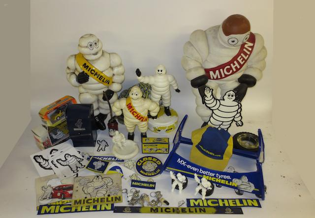 Assorted Michelin promotional items,