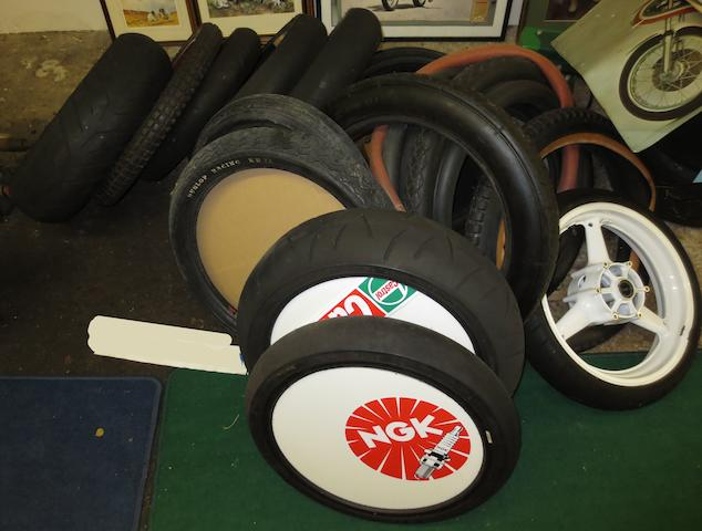 A quantity of tyres,