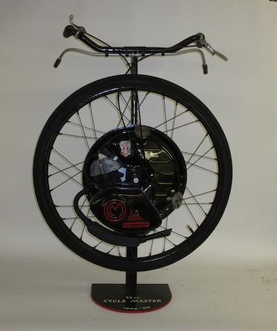 A circa 1950 32cc Cyclemaster in wheel unit,
