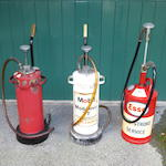 Three 2-stroke motorcycle oil dispensers,