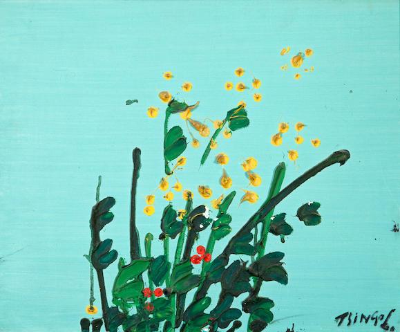 Thanos Tsingos (Greek, 1914-1965) Fleurs 38 x 45.5 cm.