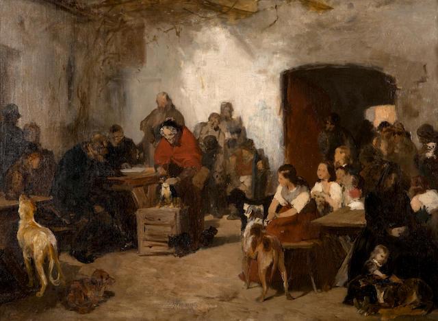 Nicholaos Gysis (Greek, 1842-1901) Examining the dogs
