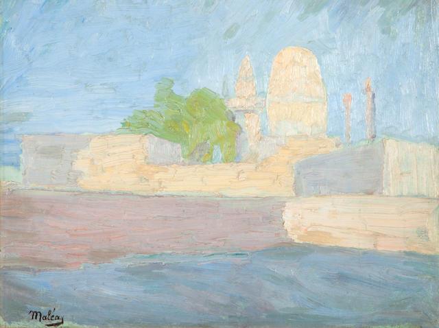 Constantinos Maleas (Greek, 1879-1928) Luxor 31 x 41 cm.