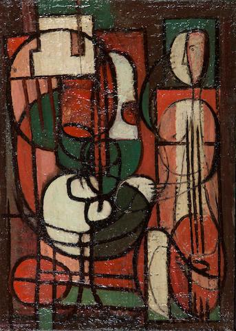 Jean Xcéron (Greek, 1890-1967) Peinture No 105 38 x 27.5 cm.