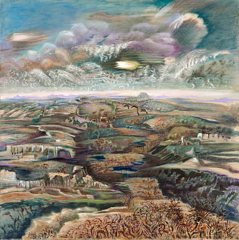 Nikos Hadjikyriakos-Ghika (Greek, 1906-1994) After the rain 73 x 73 cm.