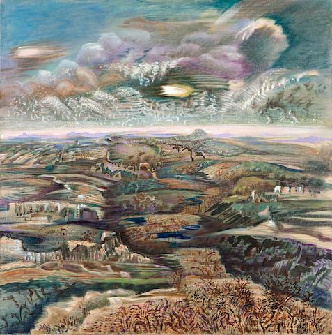Nikos Hadjikyriakos-Ghika (Greek, 1906-1994) After the rain 73 x 73 cm.