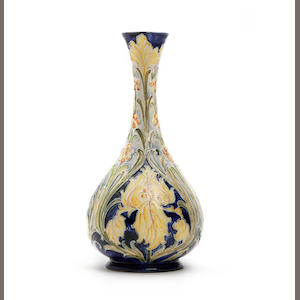 A William Moorcroft Florian 'Iris' design vase Circa 1900