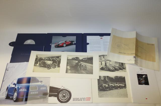 A Bugatti Veyron showroom sales brochure,