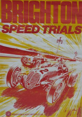 A Brighton Speed Trials poster,